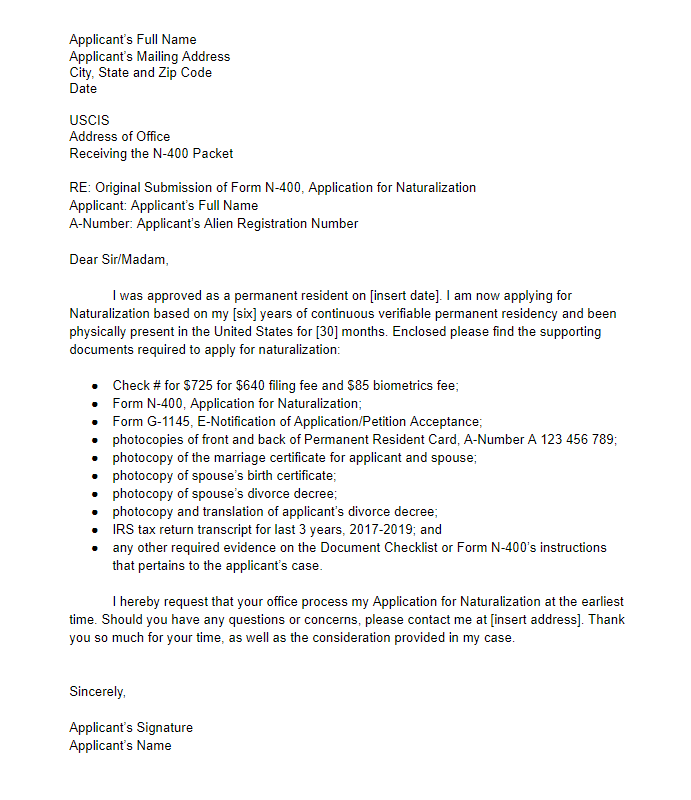 Cover Letter Examples With Signature from www.uscitizenshiphelpguide.com